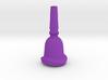 Tuba Mouthpiece, Contoured Rim - 1.28 Inch ID 3d printed tuba mouthpiece with a bent or contoured rim variation