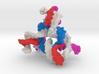 DNA Trimer molecule. 3d printed