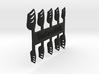 Chevron Nails (Size 3) 3d printed