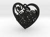 Elven Heart 3d printed