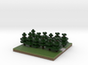 30x30 straight path (pine trees) (1mm series) 3d printed