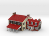 1-87 Full Color House-Cottage 3d printed