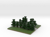60x60 T path (pine trees) (2mm series) 3d printed