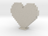 Minecraft heart 3d printed
