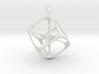 Soft Tesseract Pendant 3d printed