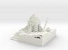 sunset rocket and Floating diamond shovel 3d printed