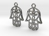 Hamsa Hand Earrings 3d printed