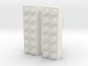 2x6 Brick Earring 0g 3d printed