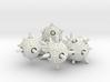 Sputnik Dice Set With Decader 3d printed