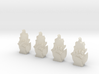 4 12mm Tall Flaming Fist Icons 3d printed