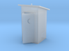 HO-Scale Slant Roof Outhouse 3d printed