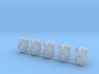 Autobot heads 001a (prime heads) (x5) 3d printed