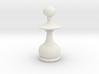 Smaller Staunton Pawn Chesspiece 3d printed