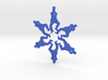 Snowflake Gangnam Style Ornament 3d printed