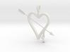 Heart & Arrow Pendant 3d printed