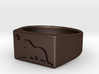 Size 12 - The New California Republic ring 3d printed