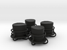 4x top hat and goggles tire valve caps 3d printed