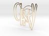 GARY logo (8cm) 3d printed