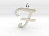 Classic Script Initial Pendant Letter F 3d printed