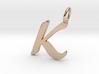 K Classic Script Initial Pendant Letter  3d printed