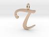 T Classic Script Initial Pendant 3d printed