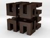 Hilbert cube ( pendant ) 3d printed