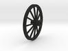 Wagon wheel 13.4cm 3d printed