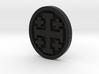 Crusader Cross Lapel 3d printed