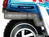 M.A.S.K. Bullet Motorbike Exhaust Pipes 3d printed Painted Prototype printed in White Strong & Flexible Polished