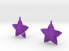 Tortuous Stars Earrings 3d printed
