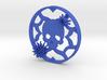 Chrysanthemum Skull Plugs 4 1/2 Inch gauge Right 3d printed