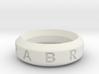 Abracadabra Ring 3d printed