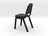 1:24 Pointed Dining Chair (Not Full Size) 3d printed