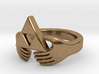 Triforce Claddagh Ring 3d printed