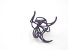 Aster Ring (Large) Size 9 3d printed Custom Dyed Color (Midnight)