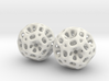 Coral Dodecahedron Earrings 3d printed