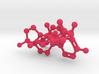 Testosterone Estrogen molecules crosslinked 3d printed