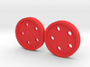 """5/8"""" five-holed buttons (two) 3d printed"""
