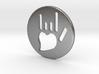 Coin-L - Handsign carved - I love you 3d printed