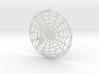 Spiderweb Pendant 3d printed