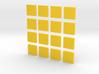 DIY 2048 Coaster Set (Yellow Pieces) 3d printed