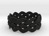 Turk's Head Knot Ring 4 Part X 11 Bight - Size 13. 3d printed