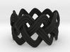 Turk's Head Knot Ring 3 Part X 9 Bight - Size 7 3d printed
