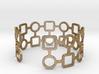 Circles & Squares Bracelet 3d printed
