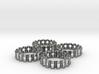 Crinkled Napkin Rings (4) 3d printed