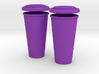 BJD Doll Coffee House Cup and Lid - 2 Pack 3d printed