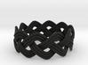 Turk's Head Knot Ring 3 Part X 10 Bight - Size 11 3d printed