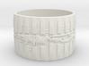 Bio Mech Ring #1, Ring Size 12 3d printed
