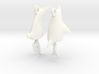 Dolphin Seraphinianus - Earrings 3d printed