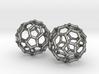 Mini Buckyball Chemistry Molecule Earrings 3d printed